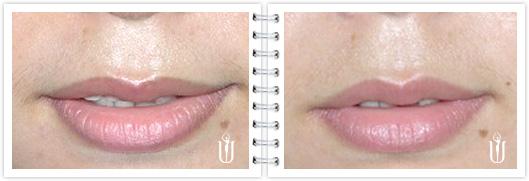 纹绣唇线画法步骤图